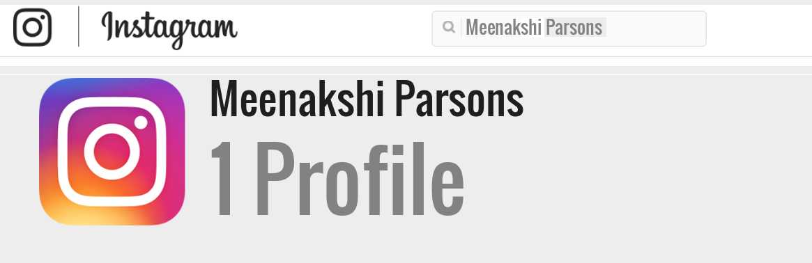 Meenakshi Parsons instagram account