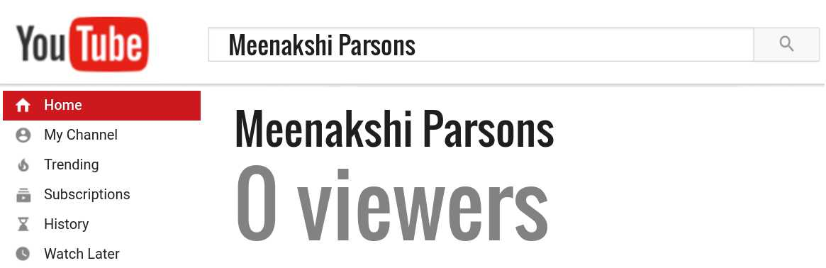 Meenakshi Parsons youtube subscribers