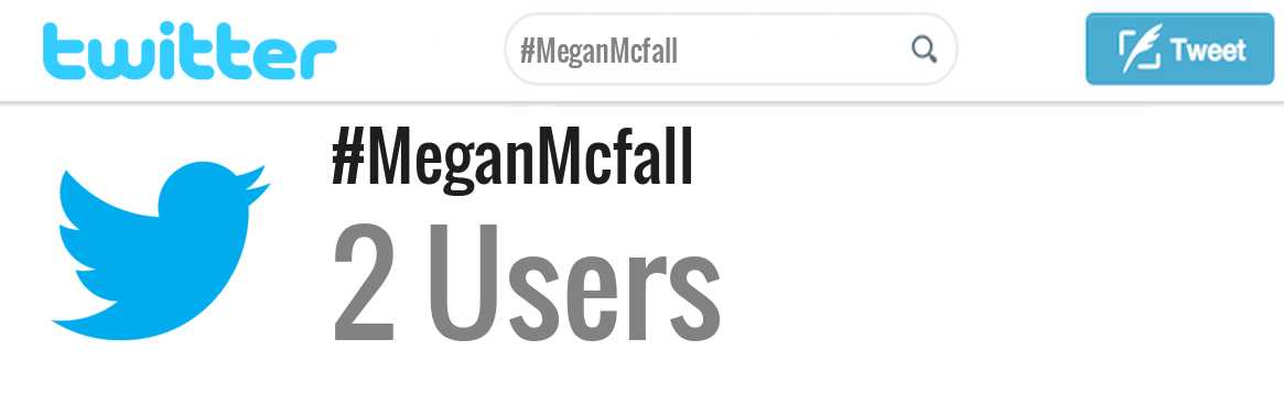 Megan Mcfall twitter account