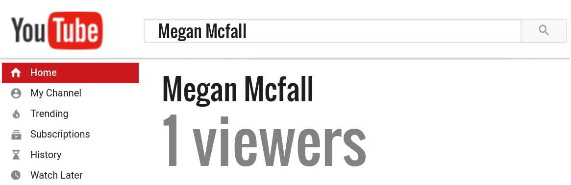 Megan Mcfall youtube subscribers