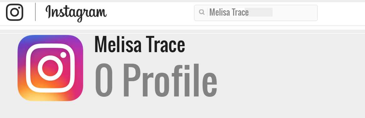 Melisa Trace instagram account