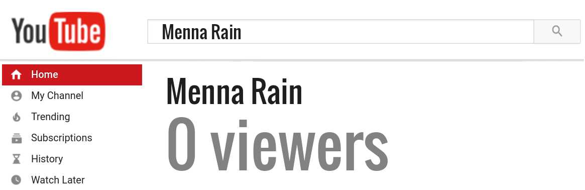 Menna Rain youtube subscribers