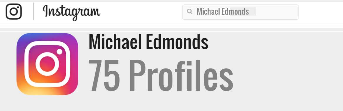 Michael Edmonds instagram account