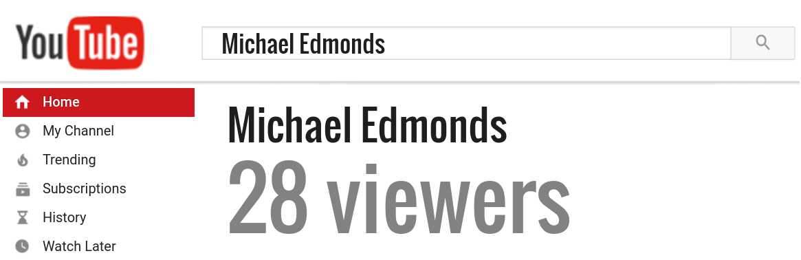 Michael Edmonds youtube subscribers