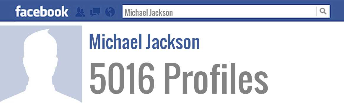 Michael Jackson facebook profiles