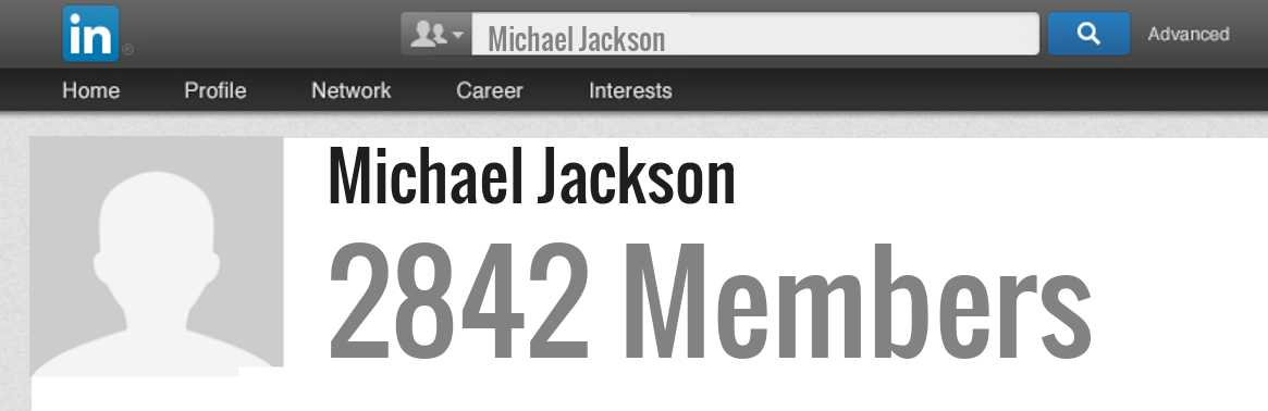 Michael Jackson linkedin profile