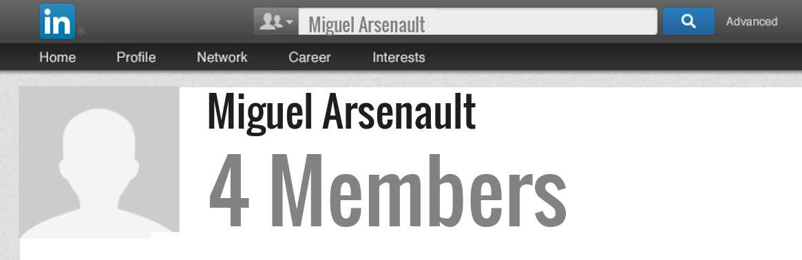 Miguel Arsenault linkedin profile