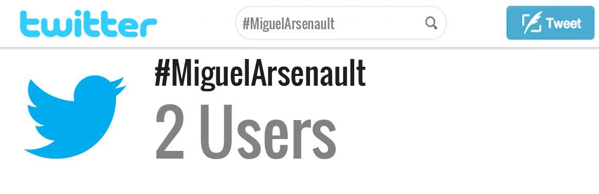 Miguel Arsenault twitter account