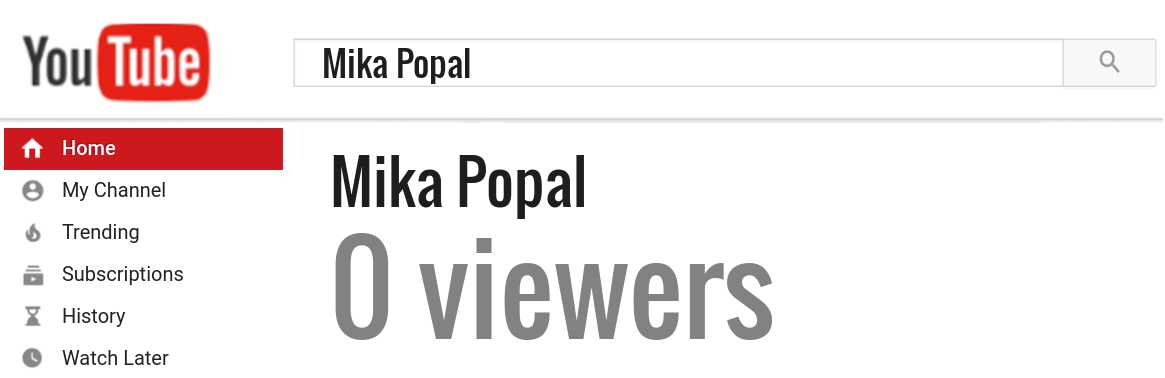 Mika Popal youtube subscribers
