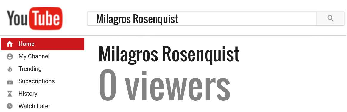 Milagros Rosenquist youtube subscribers