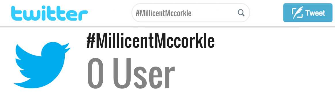 Millicent Mccorkle twitter account
