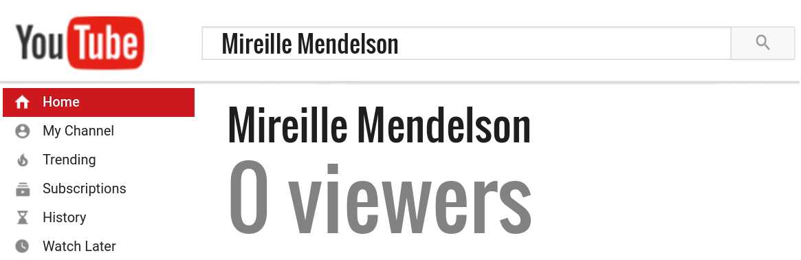 Mireille Mendelson youtube subscribers
