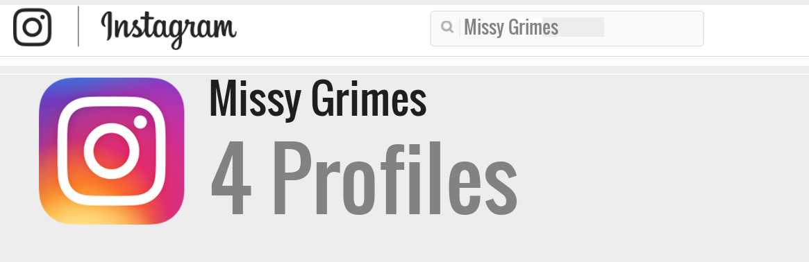 Missy Grimes instagram account