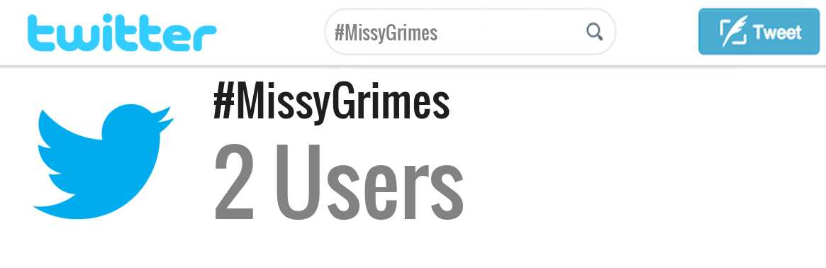 Missy Grimes twitter account