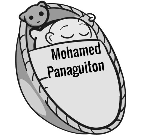 Mohamed Panaguiton sleeping baby
