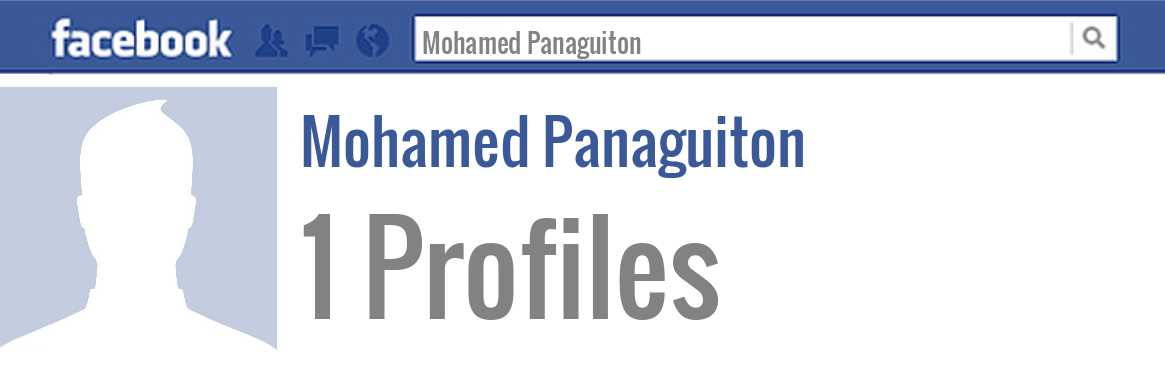 Mohamed Panaguiton facebook profiles