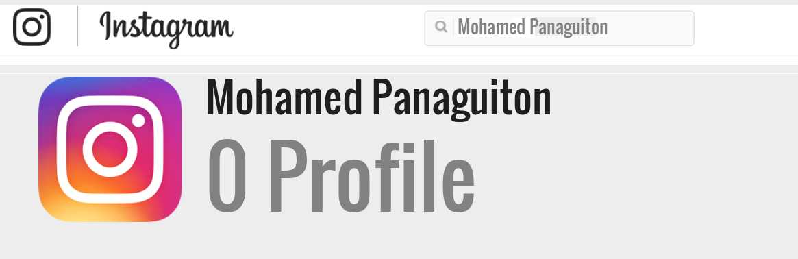 Mohamed Panaguiton instagram account