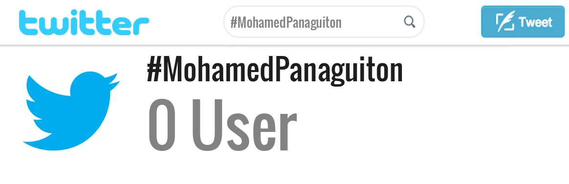 Mohamed Panaguiton twitter account