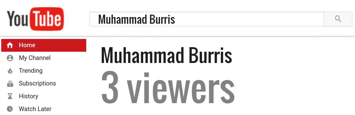 Muhammad Burris youtube subscribers