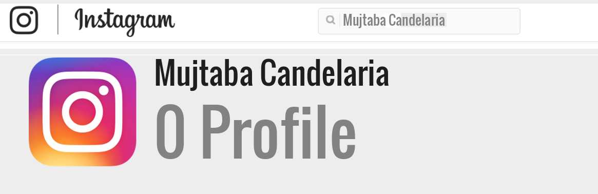 Mujtaba Candelaria instagram account