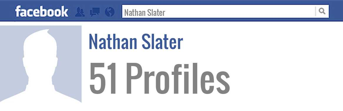 Nathan Slater facebook profiles