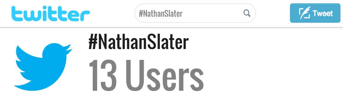 Nathan Slater twitter account