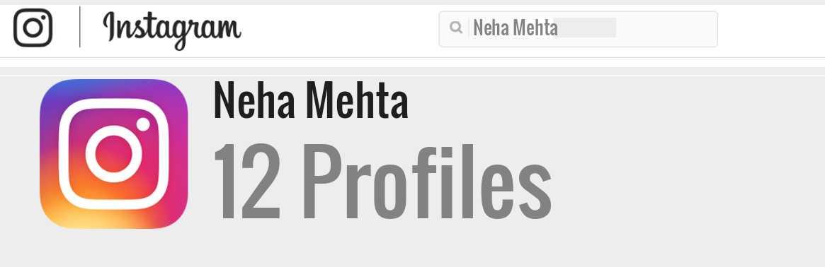 Neha Mehta Instagram