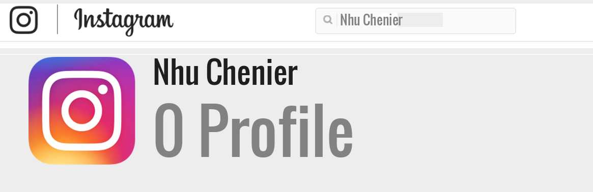 Nhu Chenier instagram account