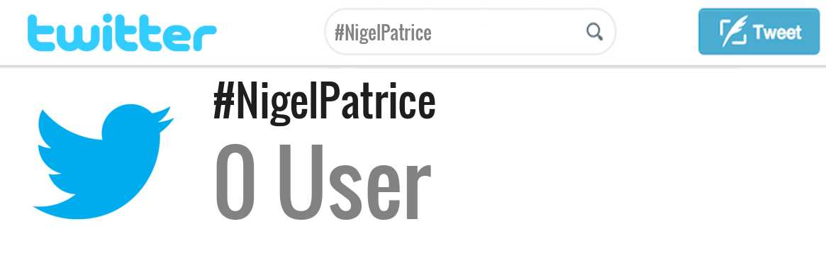 Nigel Patrice twitter account