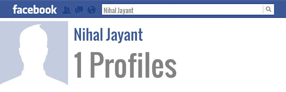 Nihal Jayant facebook profiles