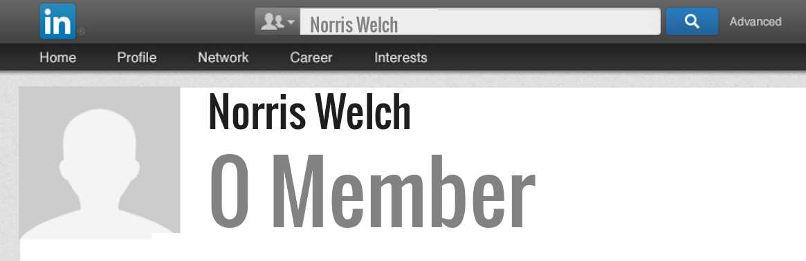 Norris Welch linkedin profile