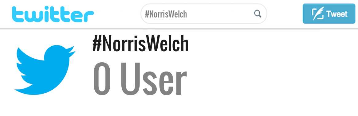 Norris Welch twitter account