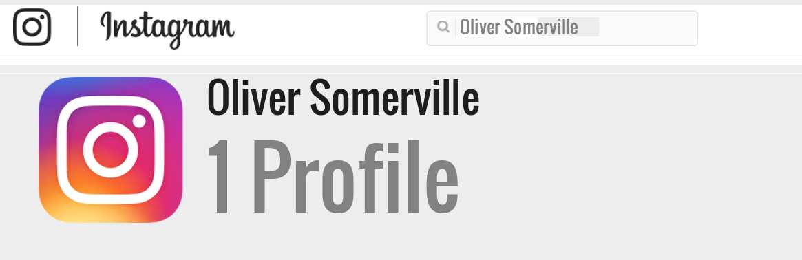 Oliver Somerville instagram account