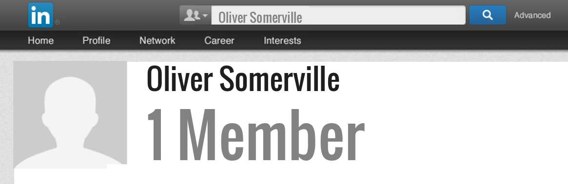 Oliver Somerville linkedin profile