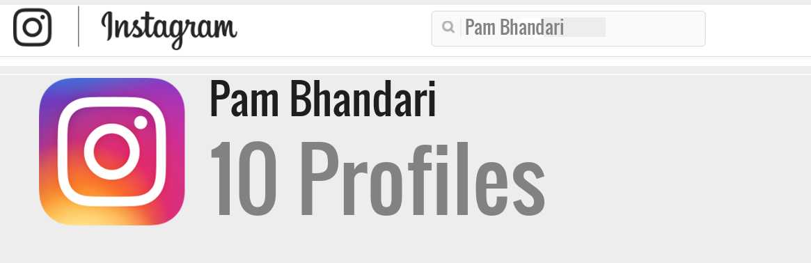 Pam Bhandari instagram account