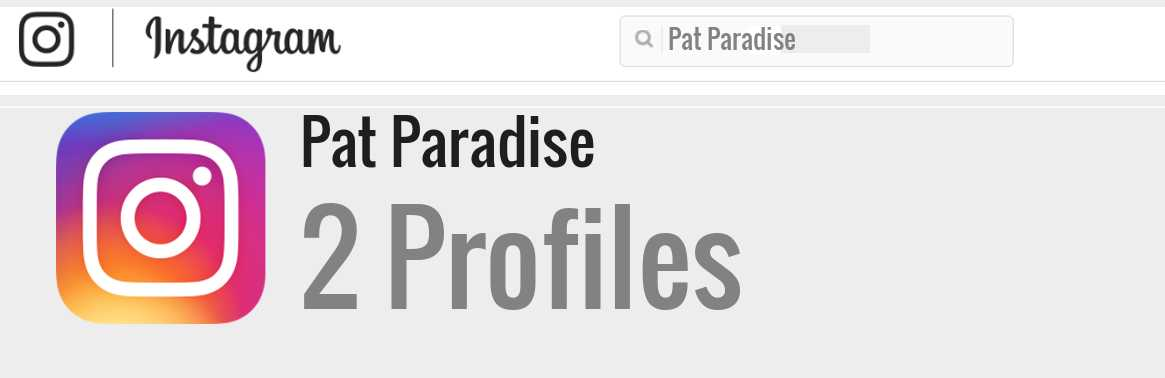 Pat Paradise instagram account