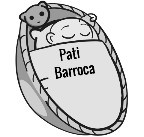 Pati Barroca sleeping baby