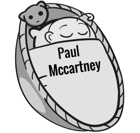 Paul Mccartney sleeping baby
