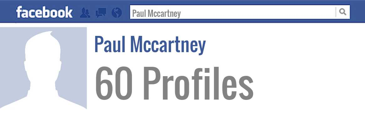 Paul Mccartney facebook profiles