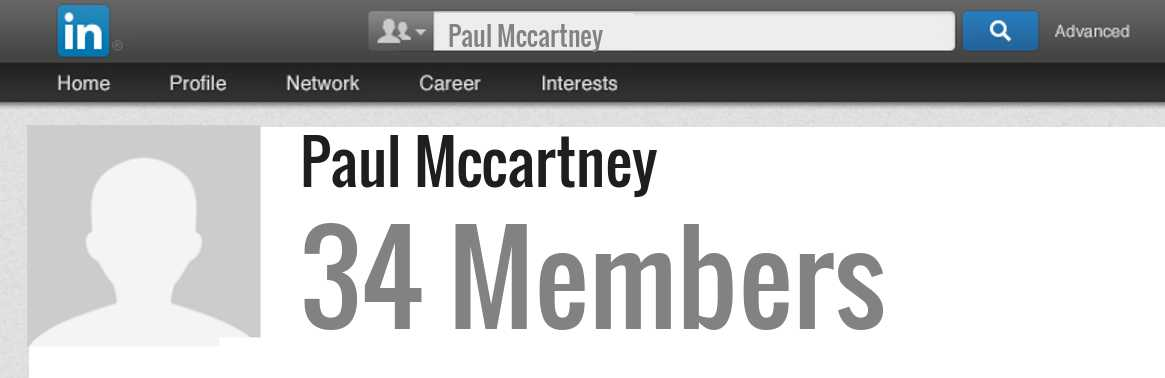 Paul Mccartney linkedin profile
