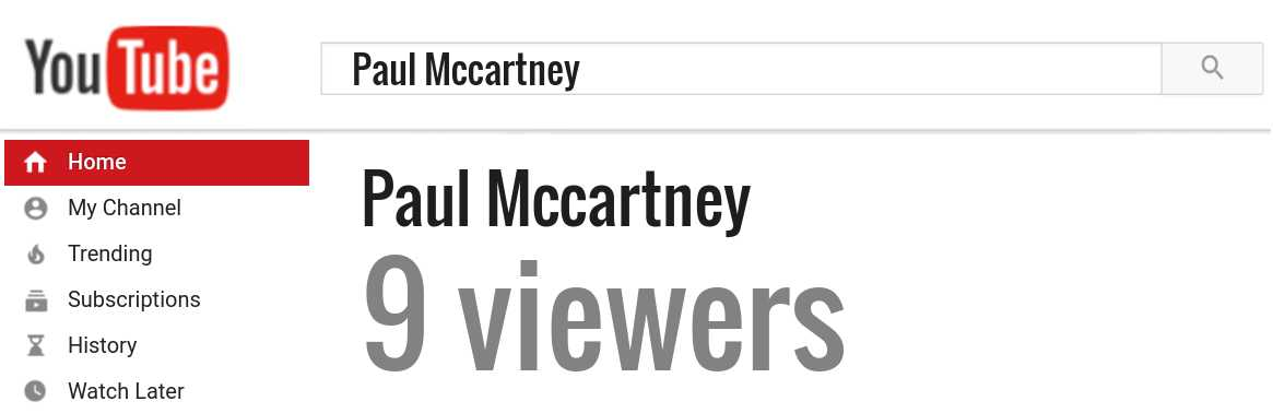 Paul Mccartney youtube subscribers