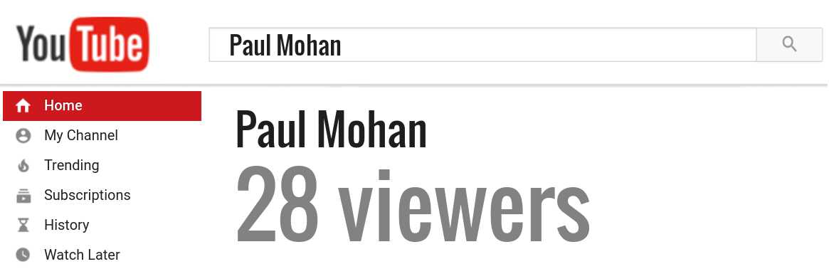 Paul Mohan youtube subscribers