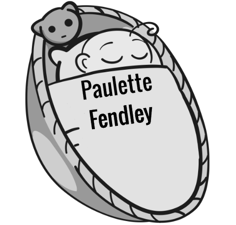 Paulette Fendley sleeping baby