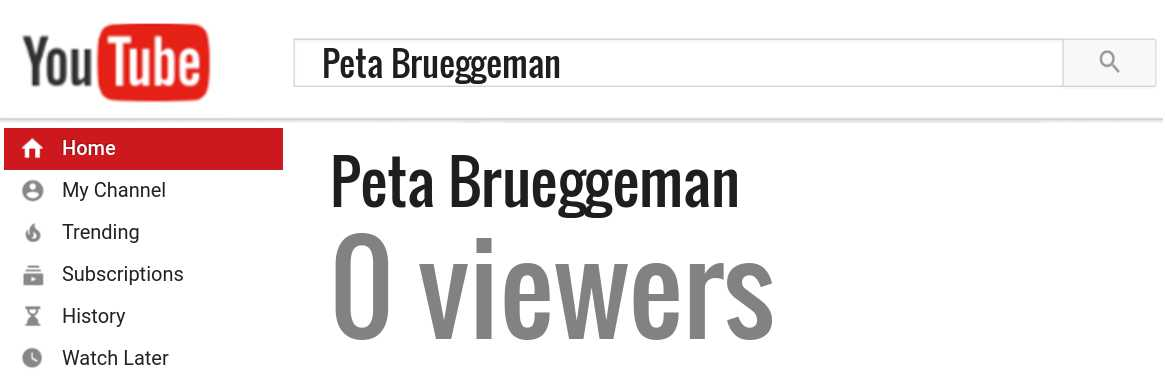 Peta Brueggeman youtube subscribers