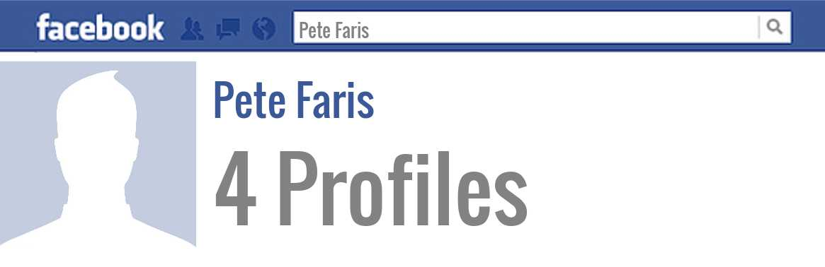 Pete Faris facebook profiles