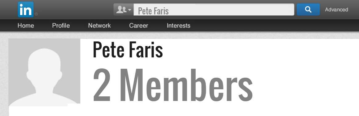 Pete Faris linkedin profile