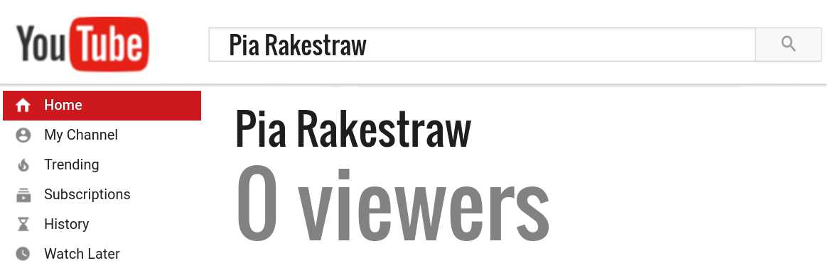 Pia Rakestraw youtube subscribers