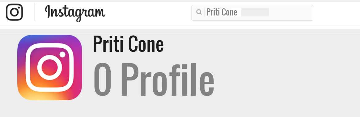 Priti Cone instagram account