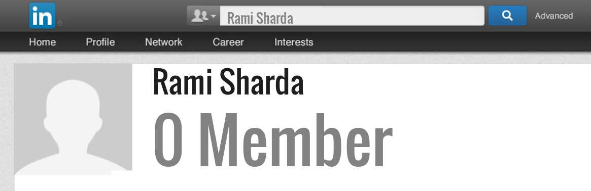 Rami Sharda linkedin profile