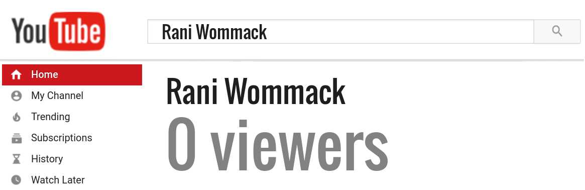 Rani Wommack youtube subscribers